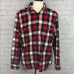 Woolrich plaid flannel button down shirt